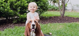 basset-hound-and-girl
